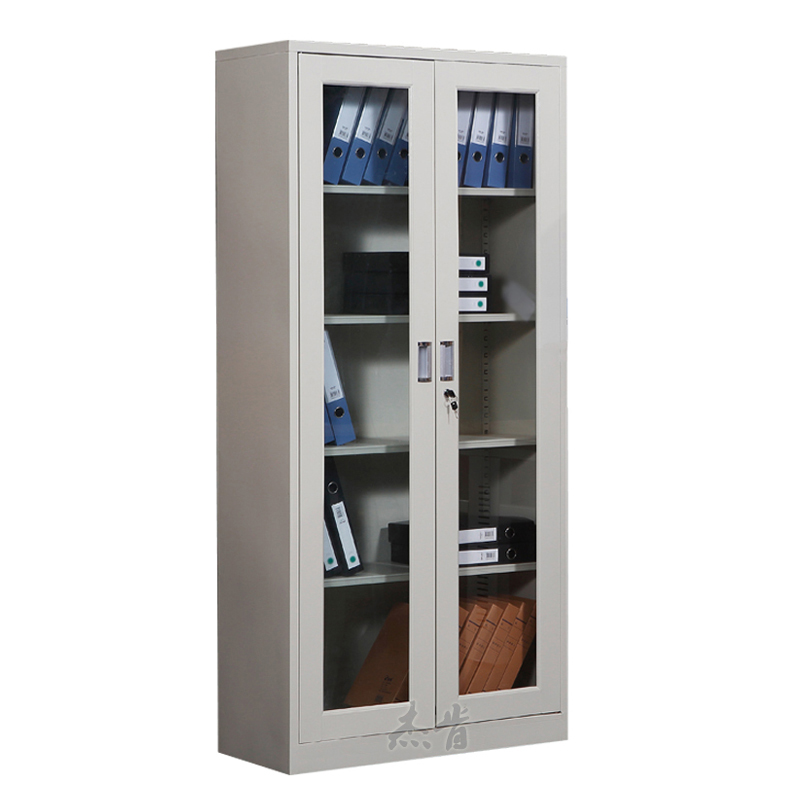 Glass swing doors file cabinet